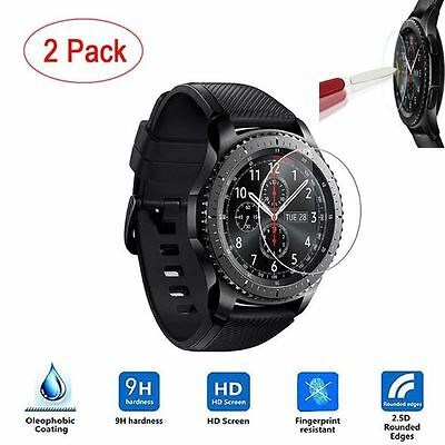 [2 Pack]Samsung Gear S3 Screen Protector with cleaner