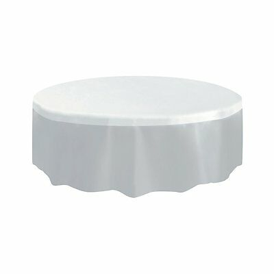Round Clear Plastic Tablecloth 7ft