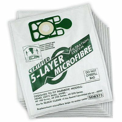 Qualtex Numatic Dust Bags for Henry and Hetty Vacuum Cleaners Pack of 10