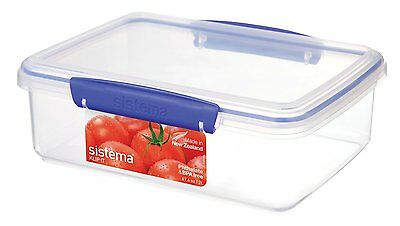 Sistema KLIP IT Food Storage Container 2 L - Clear with Blue Clips