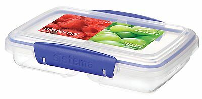 Sistema KLIP IT Split Food Storage Container 350 mL - Clear with Blue Clips