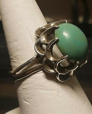 vintage Mexican sterling silver 925 turquoise ring