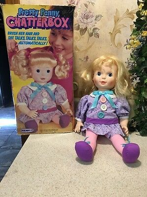 """1988 REMCO Pretty Penny Chatterbox Blonde Girl Doll 17"""" TalkS Works Rare W/ Box"""