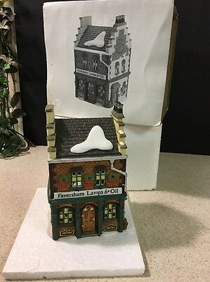 "Dept 56 Heritage Village Dickens -""Faversham Lamps & Oil"" #58327 Mint In Box"