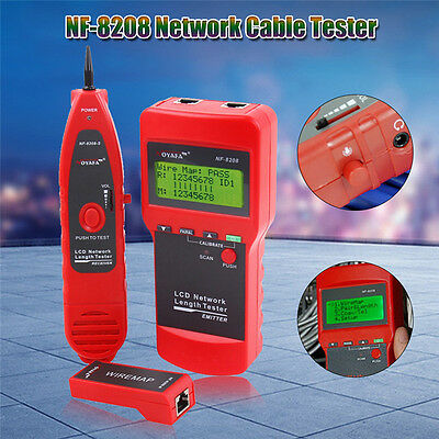 NOYAFA NF-8208 Ethernet Network Cable Tester for Cat5E Cat6E RJ45 Wire Tracker