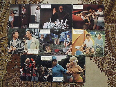 CARRY ON CAMPING 1969 Sidney James ,Kenneth WilliamsUK 10x8 LOBBY SET 8 piece
