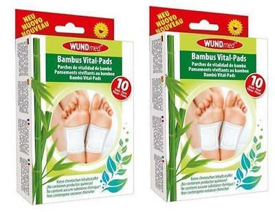 Bambus Vital Pflaster Pads Detox Entschlackung Entgiftung Fußpflaster 20 Stück