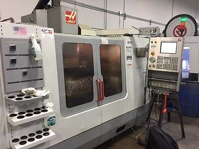 Used Haas VF-4 CNC Vertical Machining Center 50x20 Mill WIPS Probing Gear box 05