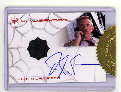 Spider-Man 3 movie Rittenhouse J Jonah Jameson autographed costume chase card