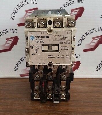 Westinghouse Motor Control A200m1cac Size 1 Model J Cad