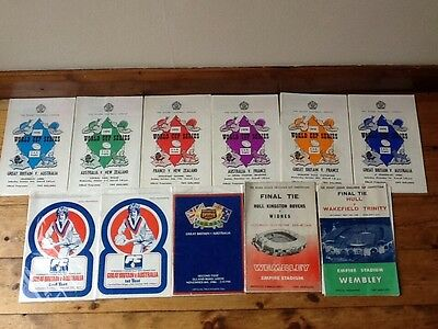 Rugby League Programmes Collection Hull Widnes Wakefield Final World Cup 1960/70