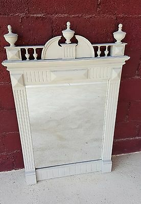 French Antique 19th Century Henri II over mantle mirror