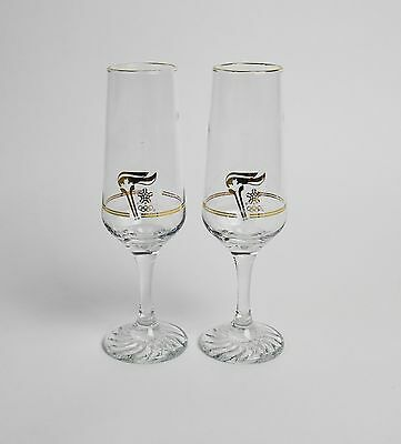 Calgary 1988 winter Olympic pair of Champagne glasses