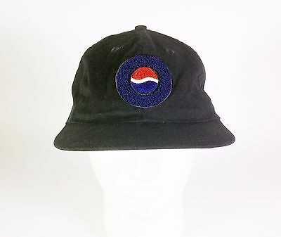 Pepsi Logo Black Baseball Cap / Hat with Adjustable Snap Closure