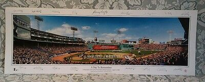 Boston Red Sox Rob Arra Panoramic Poster A Day To Remember Ring Ceremony w/ SIGS