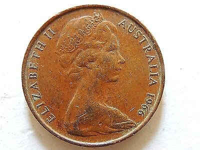 1966 Australia Two (2) Penny Coin Perth Mint