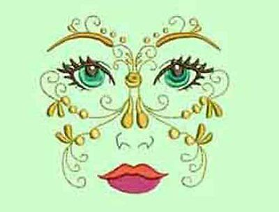 Mystic Faces -  20 Machine Embroidery Designs
