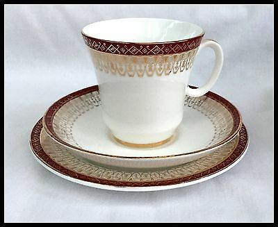Royal Grafton ~Majestic Red~ Cup, Saucer And Tea Plate Trio
