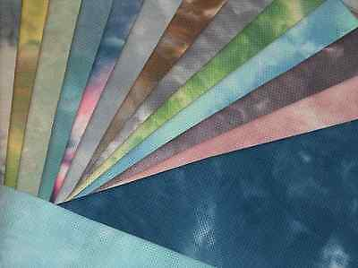 ZWEIGART/SILKWEAVER 16 or 18 Count Hand Dyed Aida Fabric for Cross Stitch CHOOSE
