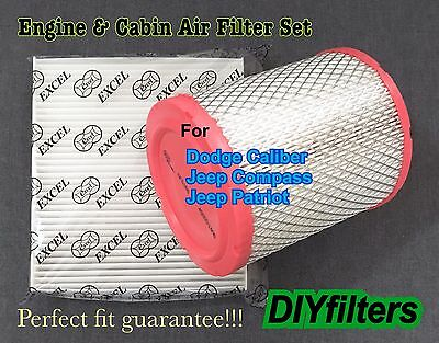AF6168 C25869 Engine&Cabin Air Filter For DODGE Caliber 11-16 Compass & Patriot