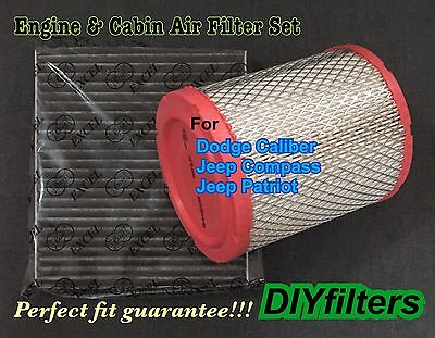 Engine&Carbonized Cabin Air Filter For DODGE Caliber 11-16 Compass & Patriot