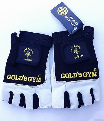 Gold's Gym Max Lift Weight Liftings Leather Gloves
