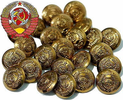 GOLD plated 40's WW2 11 republics BIG BUTTONS GENERAL MARSHAL USSR Red Army RKKA