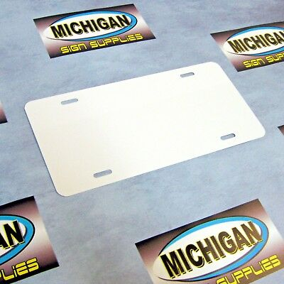 1 White .024 Aluminum License Plate Blank **Create Your Own Designs**