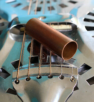 Down Home Copper Pipe Guitar slide for Dobro Resonator and Electric Guitar