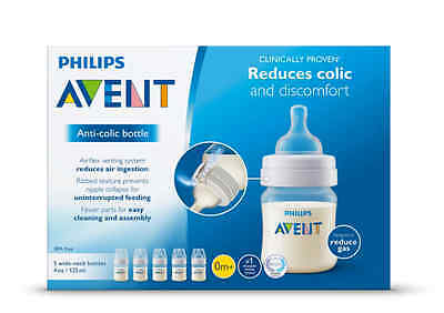 Philips Avent Newborn Bottle Kit PBA Free Starter Set Classic + easy cleaning