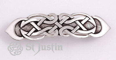 Figure of Eight Celtic Knot Hair Slide by St Justin, Cornwall UK  PH15