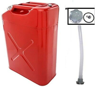 EU 5 Gal 20L Jerry Can Gasoline Oil Fuel Can Gas Storage Steel Tank