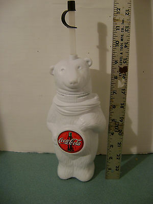 Unique Coca Cola Polar Bear Plastic Drinking Cup with Lid, Straw 750ml