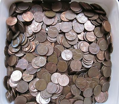 34 LBS US Lincoln Copper Cents 1959-1982 5000 + Pieces Unsearched