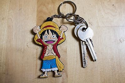 One Piece ANIME KEYRING double sided Luffy