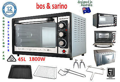 45L Large Capacity Convection Oven Good for Caravans Camping Boats Light Weight