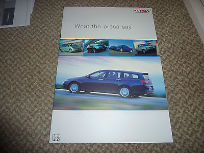 HONDA USED CARS WHAT THE PRESS SAY 2003 UK Mkt Brochure