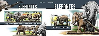 Z08 ST15408ab Sao Tome and Principe 2015 Elephants MNH Set