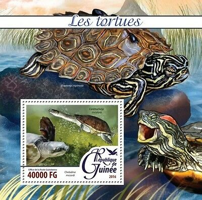 Z08 IMPERFORATED GU16225b GUINEA (Guinée) 2016 Turtles MNH