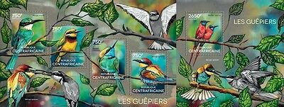 CA14618ab Central Africa 2014 Bee-eaters MNH SET