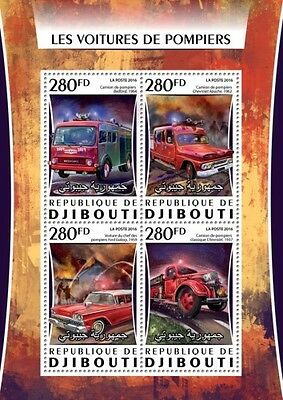 Z08 IMPERFORATED DJB16312a DJIBOUTI 2016 Fire engines MNH