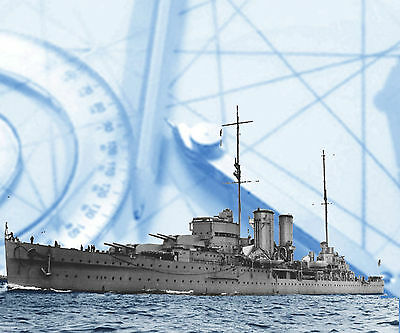 Model Ship 1/192 Scale Heavy Cruiser R/C  H.M.S. EXETER Full Size Printed Plan