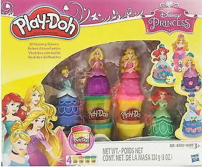 New PLAY DOH Disney Princess GLITTERING GOWNS Exclusive ARIEL Cinderella TANGLED