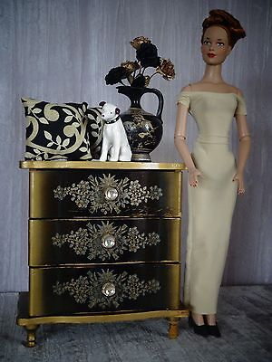 "AllforDoll OOAK DIORAMA 1:4 scale Furniture CABINET for 16"" Tonner Gene BJD Doll"