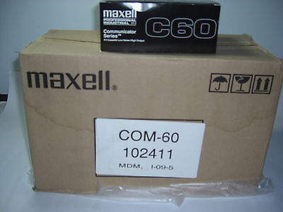 Lot of 100 PCS. New Maxell C60 Communicator Series Blank Audio Cassette Tapes