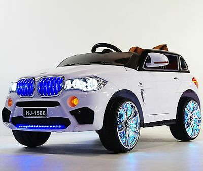 Kids Ride On Toy BMW X5 style(BJ1588)White Ride on Car for children 12V With R/C