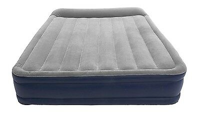Double High Inflatable Mattress Queen Air Bed Camping Self Airbed Portable NEW