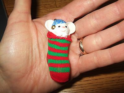 VINTAGE 1981 THE STOCKING MOUSE ORNAMENT  Hallmark Ornament  very good