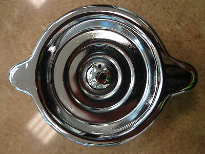 """6 Cylinder V8 Rocker Cover Oil Cap ***original With """"s"""" **triple Chrome Plated**"""