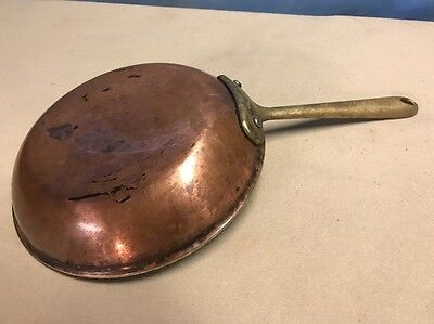 "ALL-CLAD COP*R*CHEF 8"" SKILLET Fry Pan Copper & Stainless BRASS HANDLE"
